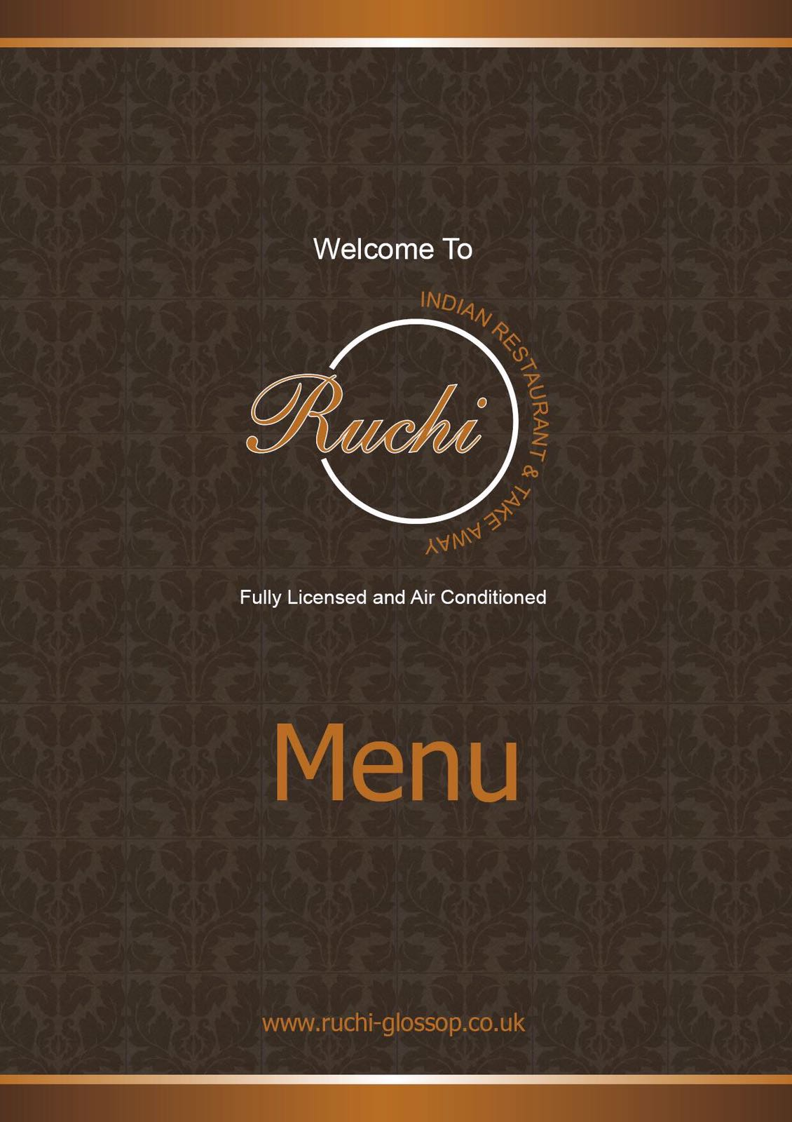 Our Menu Ruchi Glossop